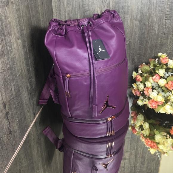 Nike Sports Air Jordan Backpack Bordeaux 9A0046-P3D Pink Skyline Purple $85
